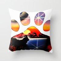 shih tzu Throw Pillows featuring Love My Shih Tzu by Sandy Malina Williamson