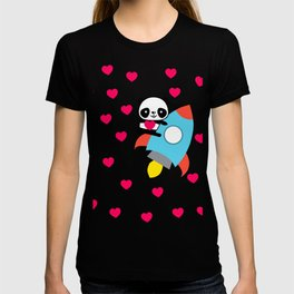 Rocketpanda in Love T-shirt