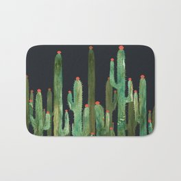 Cactus Four at night Bath Mat