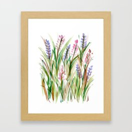 Lavender Watercolor No. 1 Framed Art Print
