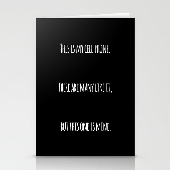 Cell Phone Cover Black Stationery Cards
