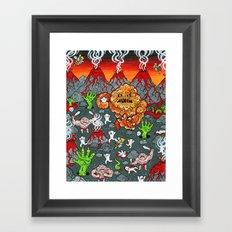 Volcano Lands Framed Art Print