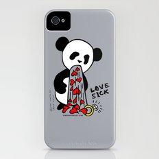 LOVESICK PANDA - grey iPhone (4, 4s) Slim Case
