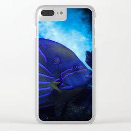 underwater blue Clear iPhone Case