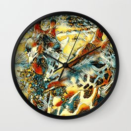 AnimalArt_Giraffe_20171203_by_JAMColorsSpecial Wall Clock