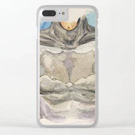 The Bat Man - Fictional Superhero Clear iPhone Case