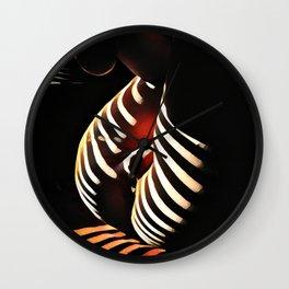 0885s-AK Sunlight Stripes Reveal Her Sensual Feminine Power Wall Clock