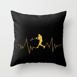Baseball Heartbeat design Cool Gift for Sport Lovers Throw Pillow