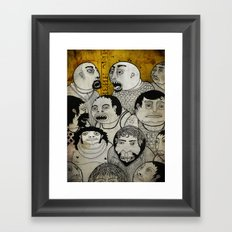 Los cara de galleta Framed Art Print