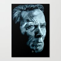 clint eastwood Canvas Prints featuring Clint Eastwood by artbyolev