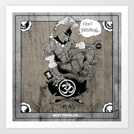 Spartan Buddha Yoga Art Print