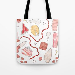 A Selection of Meats Tote Bag