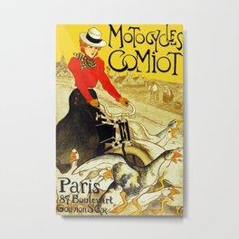 Motocycles Comiot Metal Print
