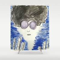 hippie Shower Curtains featuring Hippie by ArtAngel