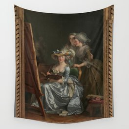 Adelaïde Labille-Guiard - Self-Portrait with Two Pupils, Marie Gabrielle Capet (1761–1818) and Marie Wall Tapestry