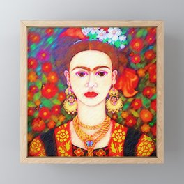 My other Frida Kahlo with butterflies Framed Mini Art Print