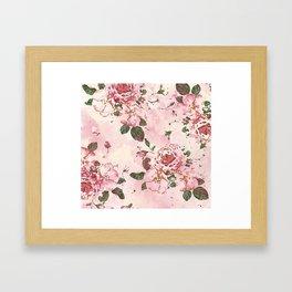 Roses Blossom Framed Art Print