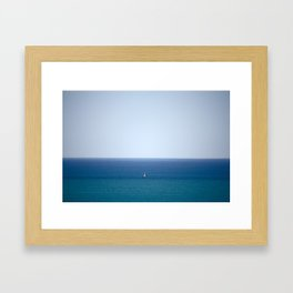 Boat on the Horizon Framed Art Print