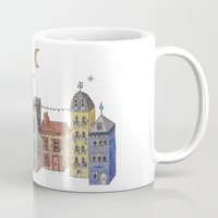 europe Mugs featuring Exploring Europe by Maxine Hughes
