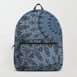 Blue and gray mandala Backpack
