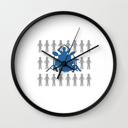 Be Different Drumming Drummers Music Lovers Musicians Drums Rock Bands Gift Wall Clock
