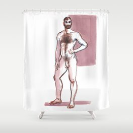 TEX, Nude Male by Frank-Joseph Shower Curtain