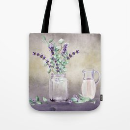 Country Lavender and Eucalyptus Tote Bag