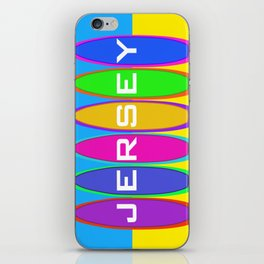 Jersey Surfboards on the Beach iPhone Skin