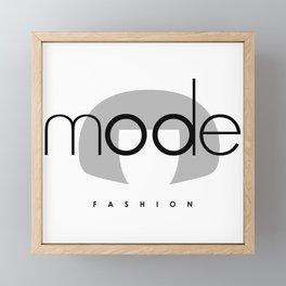 Edna Mode Fashion (logo big) Framed Mini Art Print