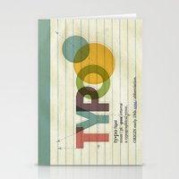 typo Stationery Cards featuring typo by Vin Zzep
