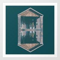 suburban 01 Art Print
