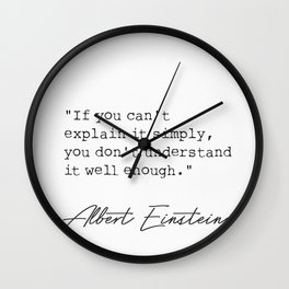 If you can't explain it simply.. Wall Clock