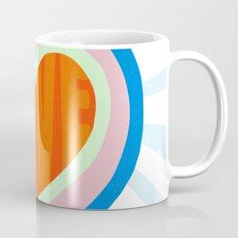 heart of love, orange Coffee Mug