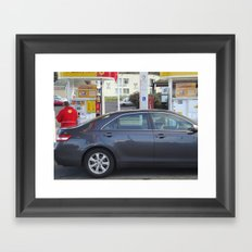 Full Service Station- Oregon Framed Art Print