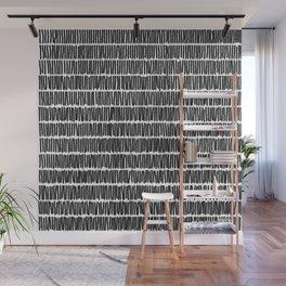 Infinite Lines Pattern - Black Wall Mural