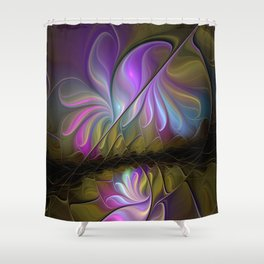 Come Together, Abstract Fractal Art Shower Curtain