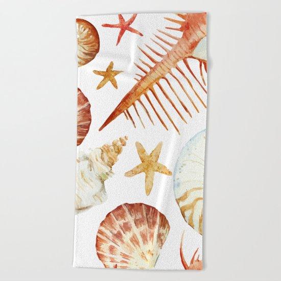 Sea Life Pattern 09 Beach Towel