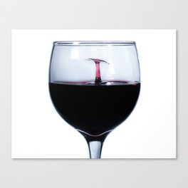 A Splash of Red Wine Canvas Print