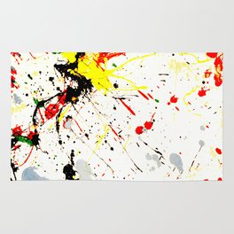 Paint Splatter Rug
