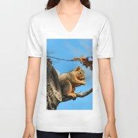 meditation V-neck T-shirts featuring Meditation by IowaShots