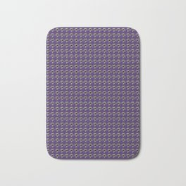 Luv Machine Robot Houndstooth Print Bath Mat
