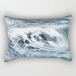 Blue Sea Ocean Waves Rectangular Pillow