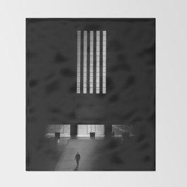 black white photo Throw Blanket