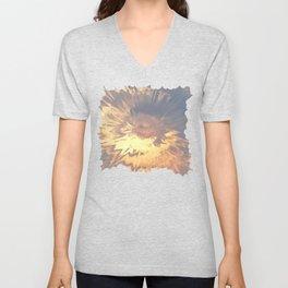 Sunset mandala explosion Unisex V-Neck