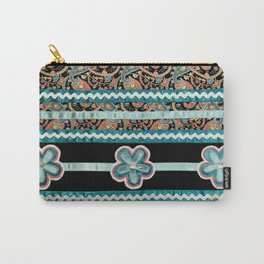 Wild Prairie Rose (Blue) Carry-All Pouch