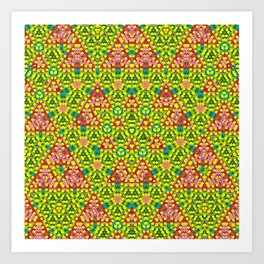 colored structure Art Print