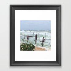 Galle Fishermen Framed Art Print