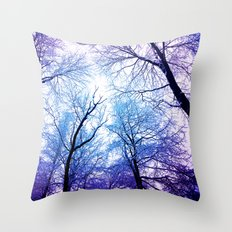 Snow Angel's View  Throw Pillow
