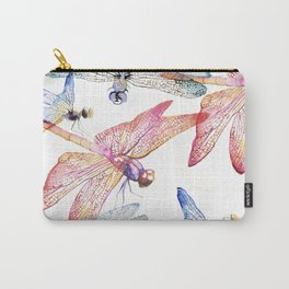 Dragonfly Pack Pink and Blue Carry-All Pouch