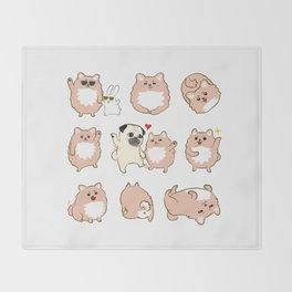 Happy dogs, Happy Life Throw Blanket